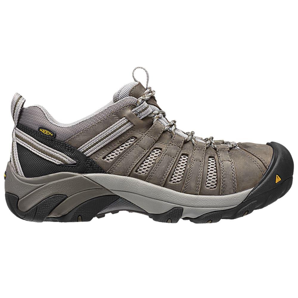 KEEN Men's Flint Low Work Shoes - GARGOYLE /FOREST