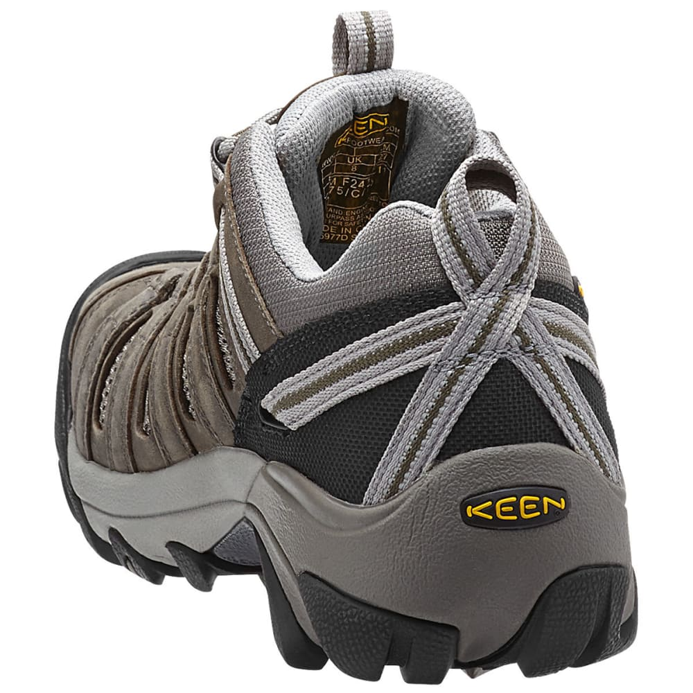 KEEN Men's Flint Low Work Shoes - GARGOYLE /FOREST