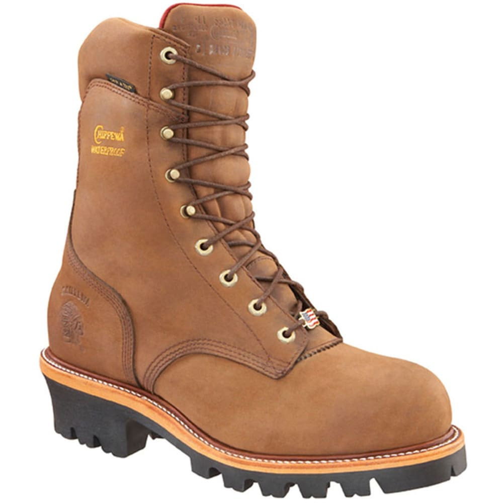 Chippewa Men's Bay Apache Super Logger Boot, Wide Width - Brown, 8