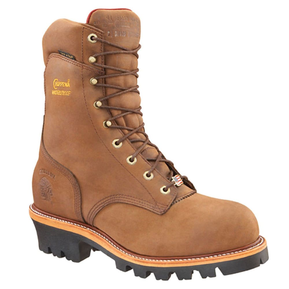 Chippewa Men's Bay Apache Super Logger Boot, Extra Wide Width - Brown, 8