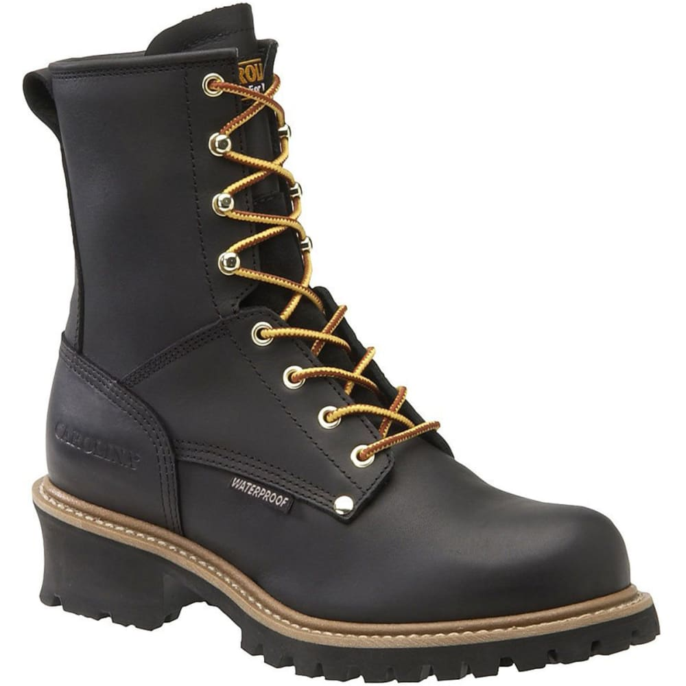 CAROLINA Men's 8 in. Steel Toe Waterproof Work Boots, Wide Width - BLACK
