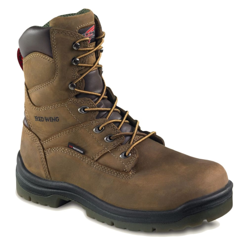 RED WING Men's 8-Inch Waterproof Work Boots - BROWN