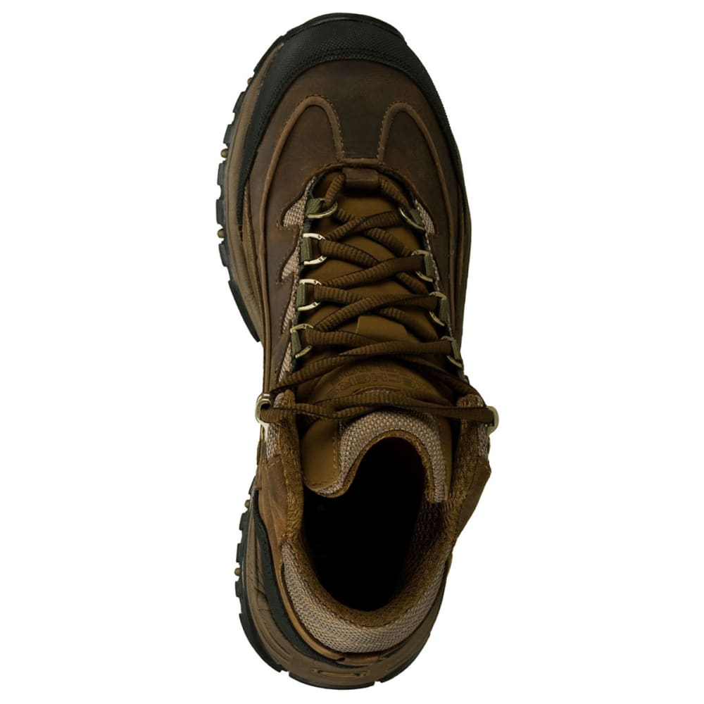 SKECHERS Men's Work: Energy- Blue Ridge Steel Toe Boots, Wide - CHOCOLATE/BRONZE