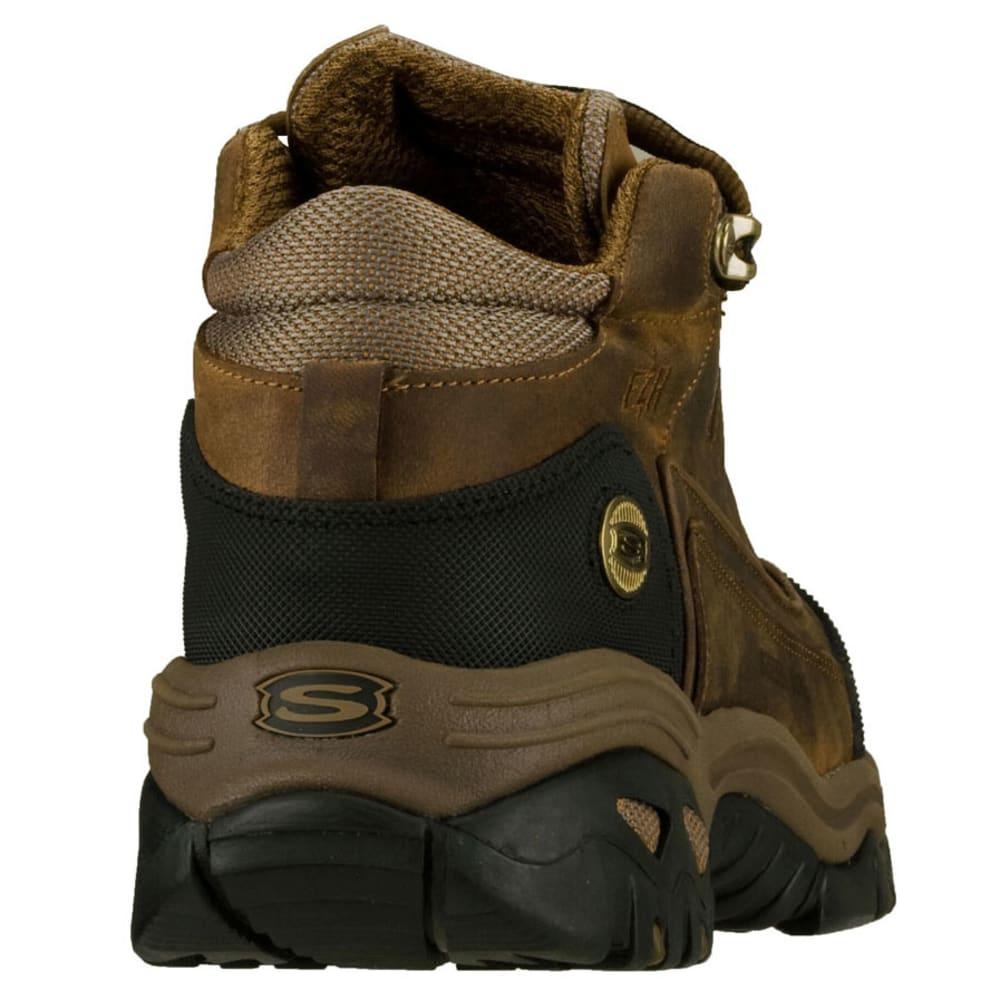SKECHERS Men's Work: Energy- Blue Ridge Steel Toe Boots, Wide - CHOCOLATE/BRONZE