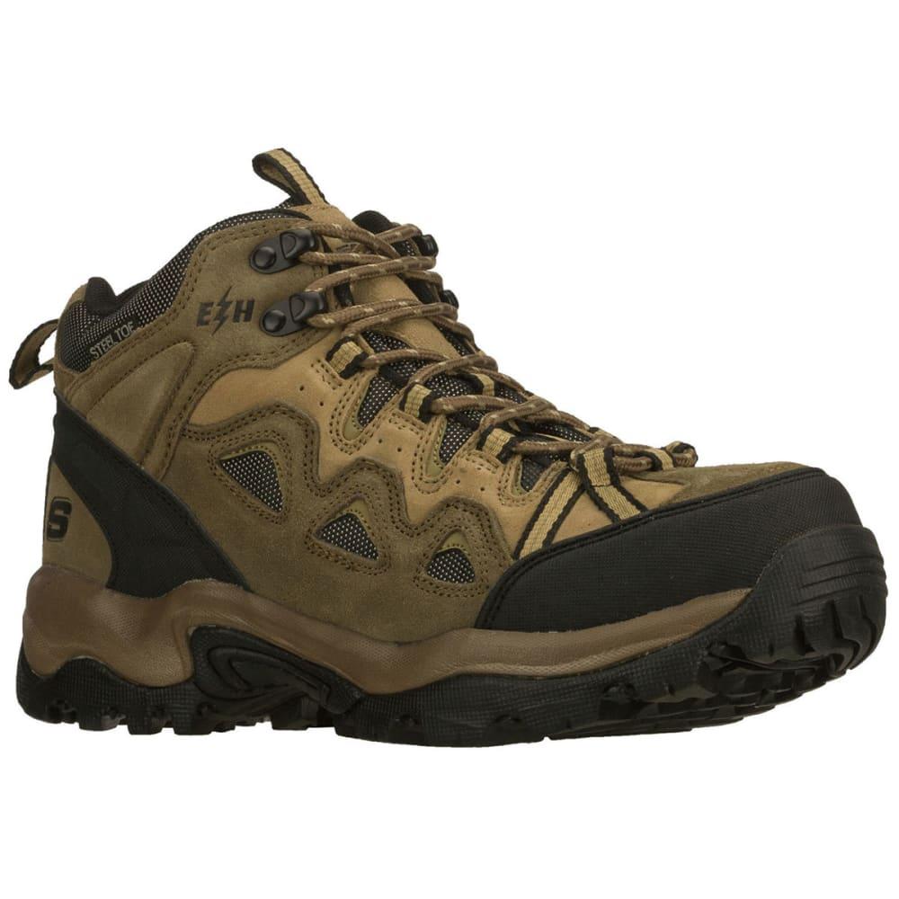 SKECHERS Men's Stampede Steel Toe Hiker Boots - COCOA
