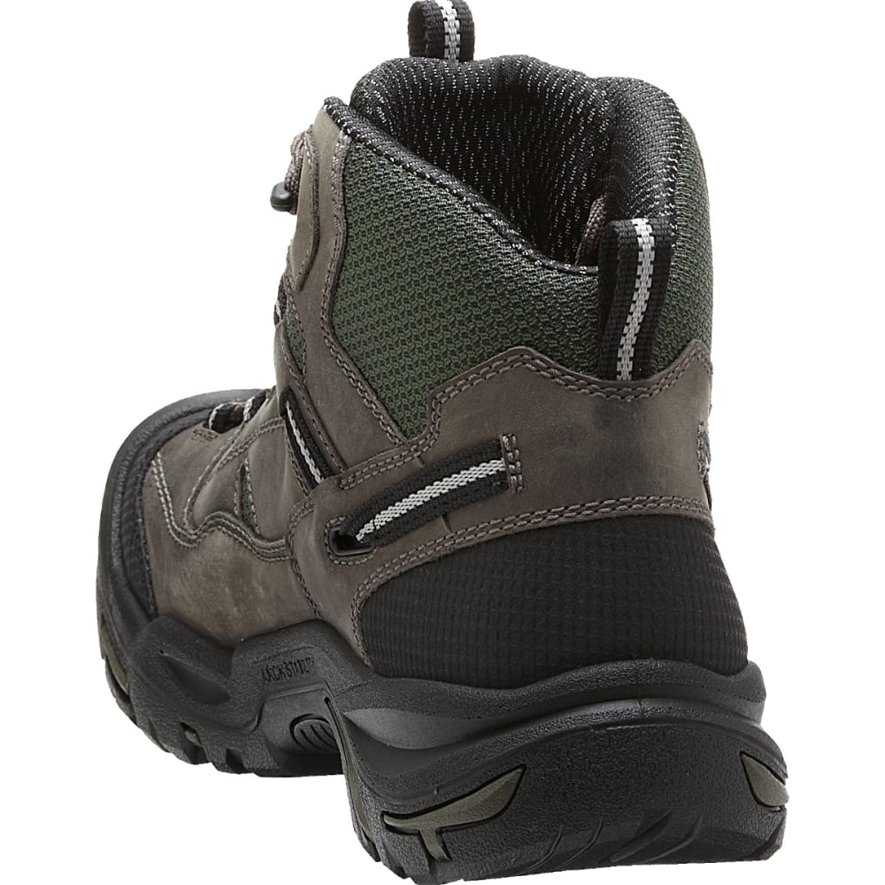 KEEN Men's Braddock Mid Waterproof Steel Toe Boots - GARGOYLE/FOREST NIGH