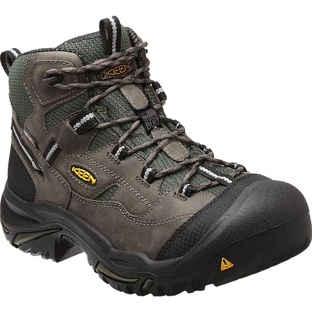 KEEN Men's Braddock Mid Waterproof Steel Toe Boots - GARGOYLE/FOREST NIGH