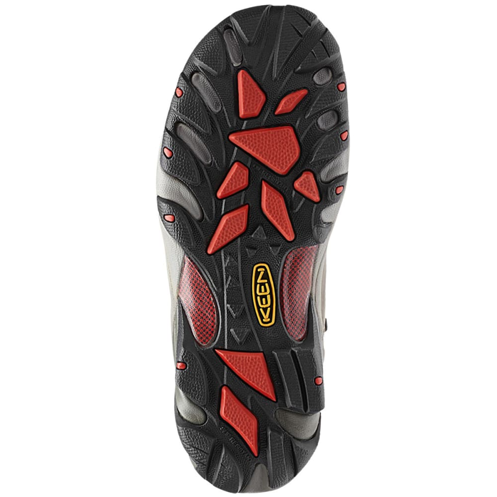 KEEN Men's Detroit Mid Waterproof Steel Toe Hiking Boots - GREY HOUNDSTOOTH