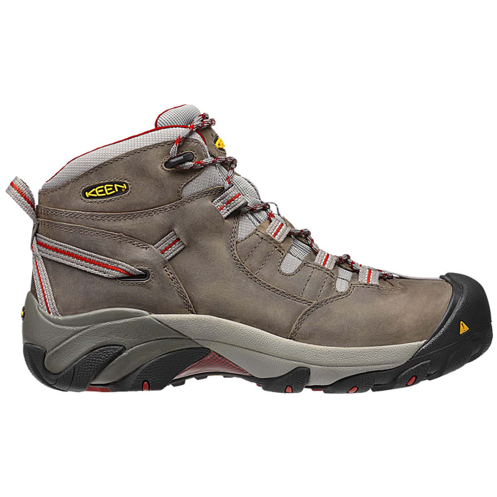 KEEN Men's Detroit Mid Waterproof Steel Toe Hiking Boots - GREY HOUNDSTOOTH
