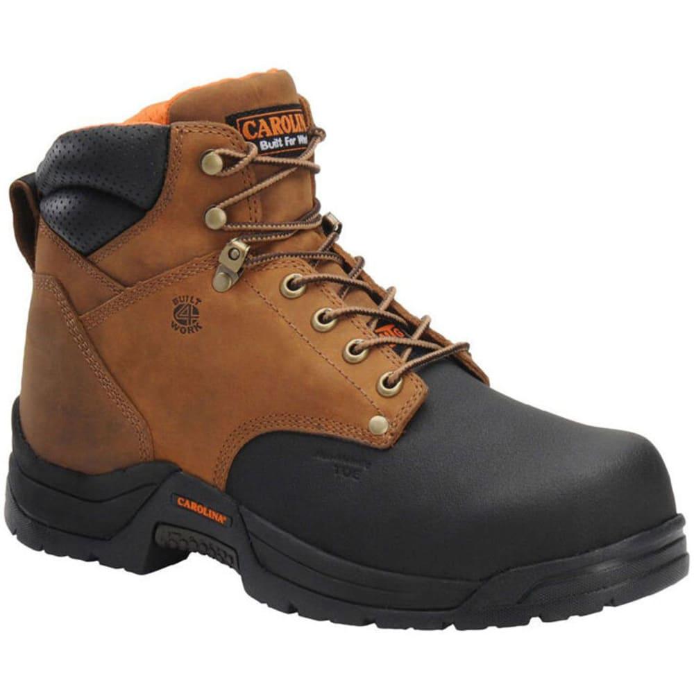 "CAROLINA Men's CA5582 Wide 6"" Composite Toe Metguard Work Boots, Copper Crazy Horse - BROWN"