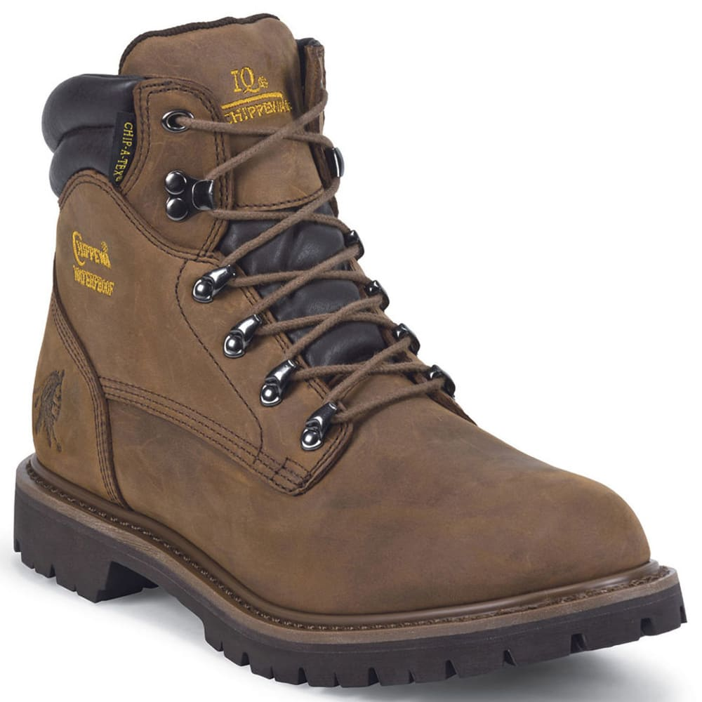 CHIPPEWA Men's 6 in. Waterproof Lace Up Boots - BROWN