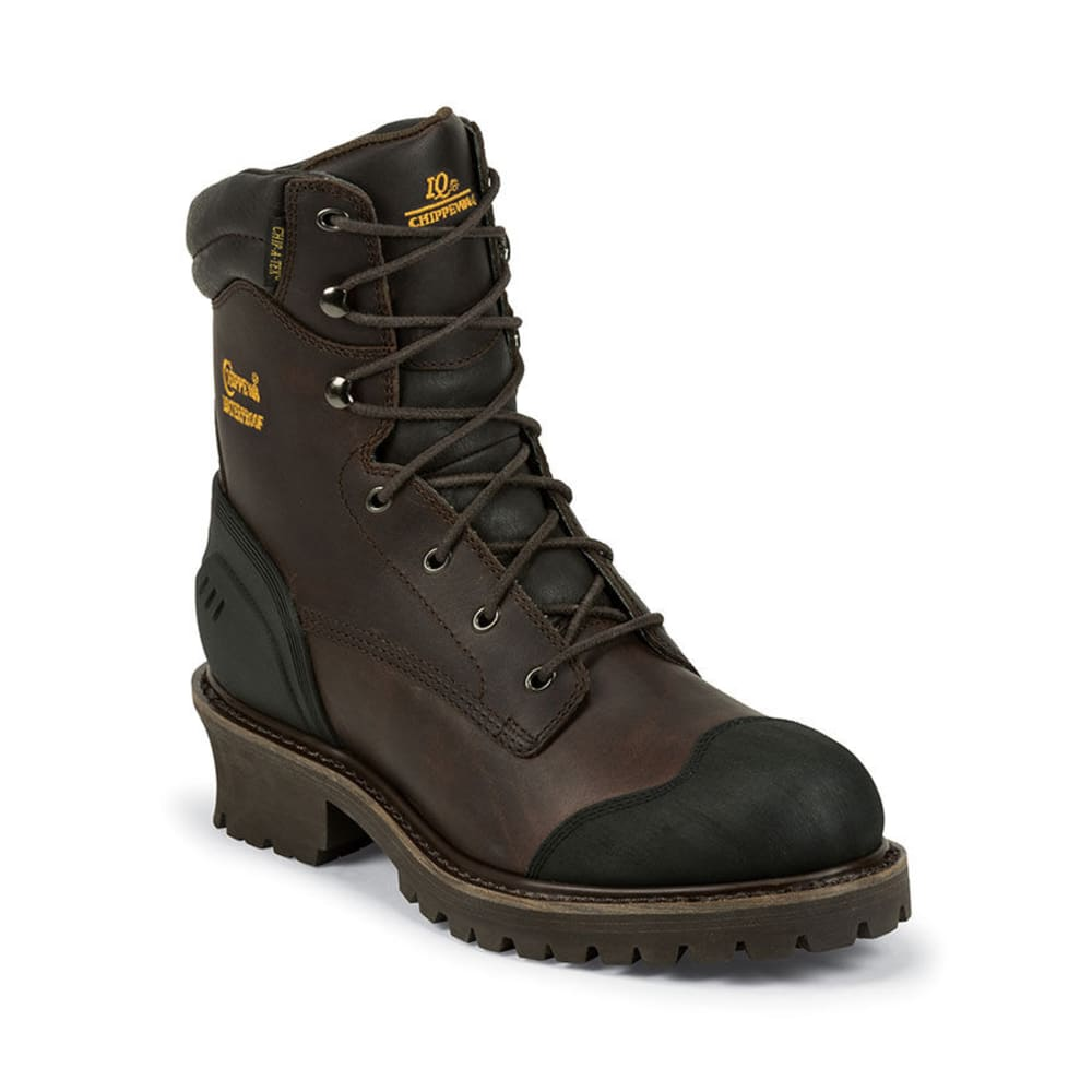 CHIPPEWA Men's 8 in. Oiled Waterproof Boots - BROWN