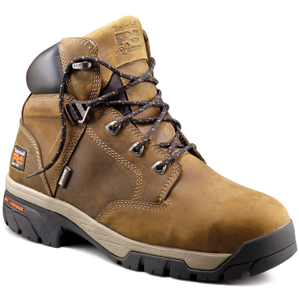 TIMBERLAND PRO Men's 6 inch Titan Safety Toe Boots, Medium - BROWN