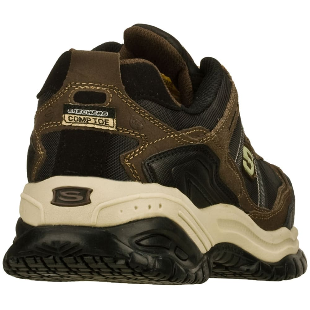 SKECHERS Men's Work Soft Stride Grinnell Comp Toe Shoes - BROWN