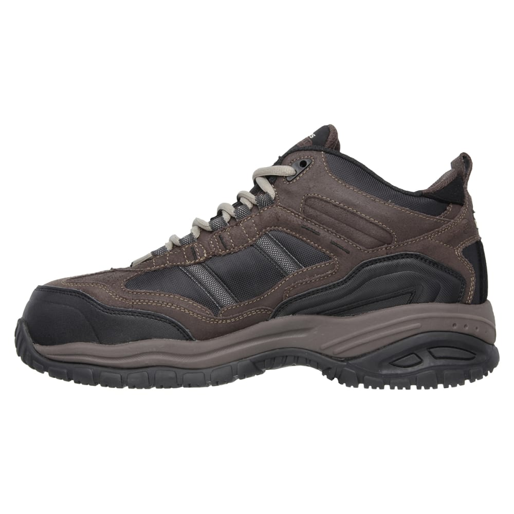 SKECHERS Men's Work Relaxed Fit: Soft Stride - Canopy Composite Toe Shoes - BROWN