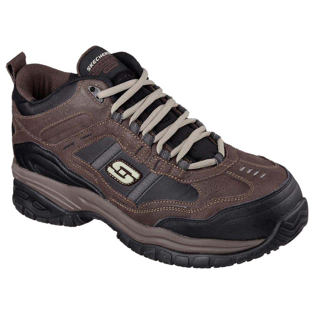 Skechers Men's Work Relaxed Fit: Soft Stride - Canopy Composite Toe Shoes - Brown, 8