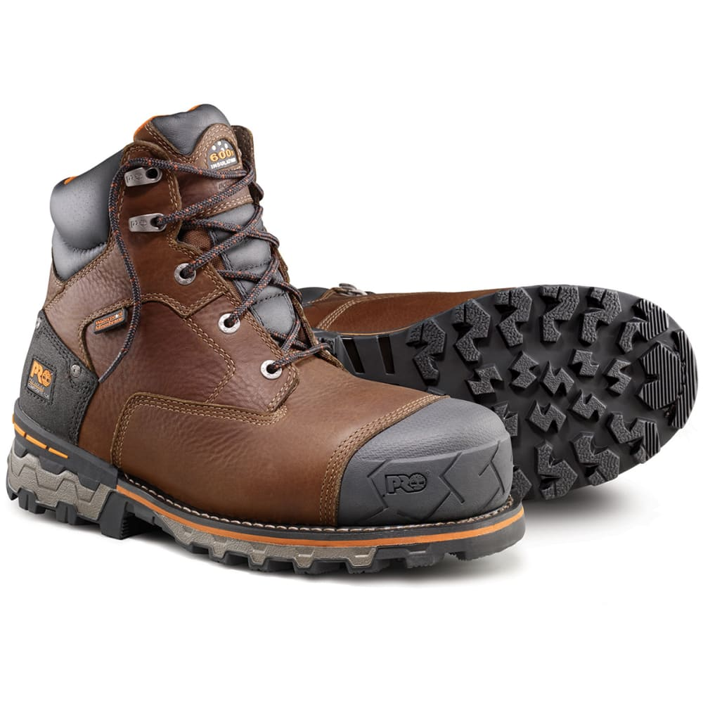 TIMBERLAND PRO Men's Boondock 6 inch Composite Toe Work Boots - BROWN