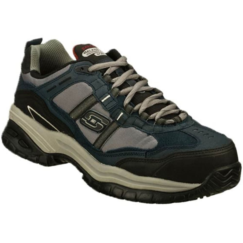 SKECHERS Men's Relaxed Fit: Soft Stride – Grinnell Composite Toe Shoes - NAVY