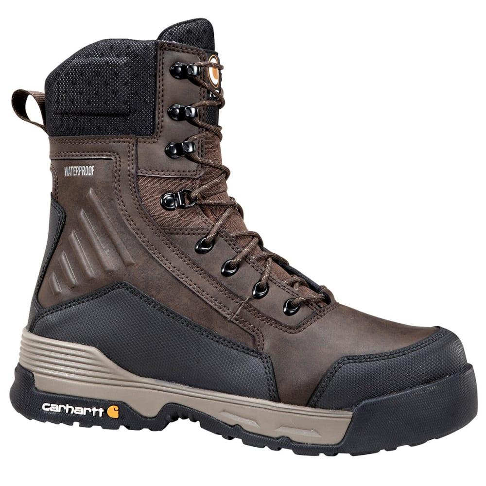 CARHARTT Men's 8-Inch Force® Waterproof Work Boots - DARK BROWN - MEDIUM