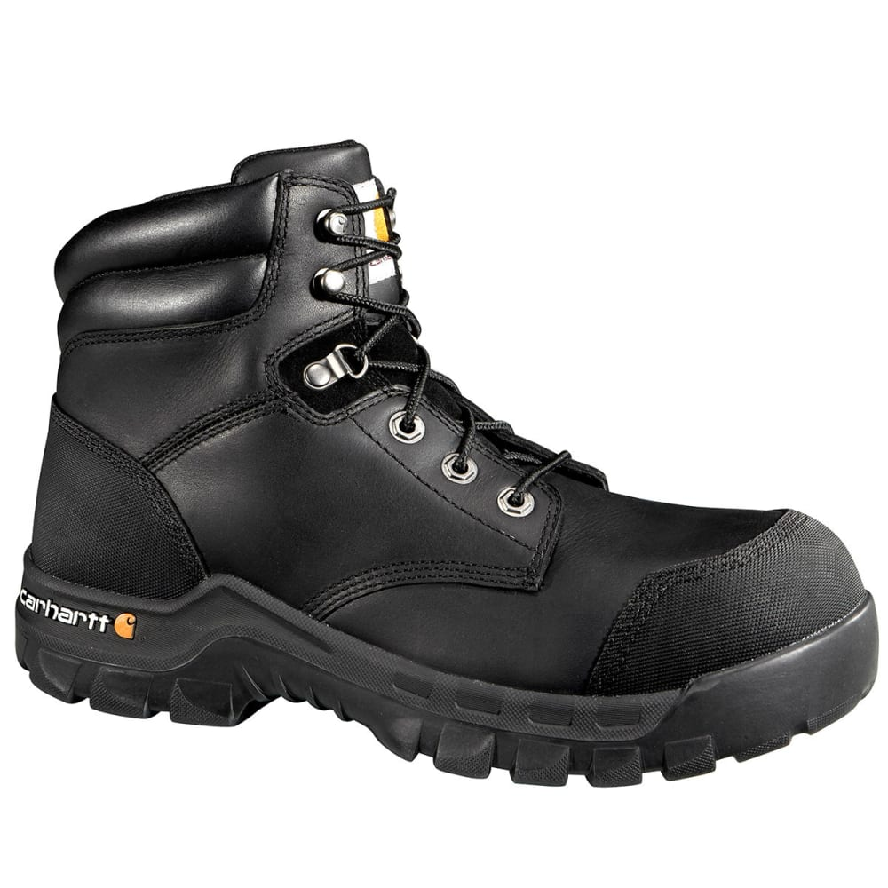 CARHARTT Men's 6-Inch Rugged Flex® Waterproof Comp Toe Work Boot - BLACK OIL TANNED