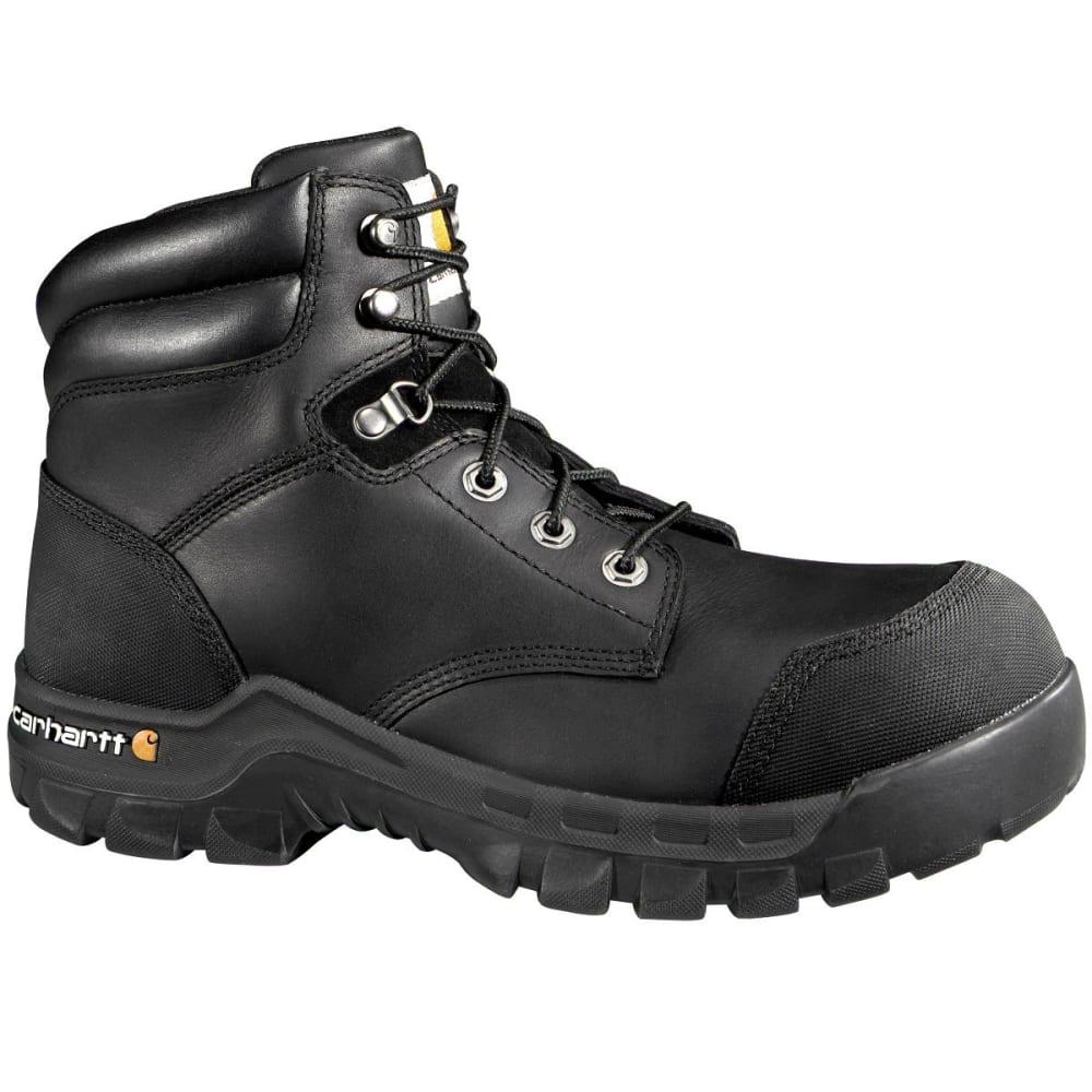 CARHARTT Men's 6-Inch Rugged Flex Waterproof Comp Toe Boots, Wide - BLACK OIL TANNED
