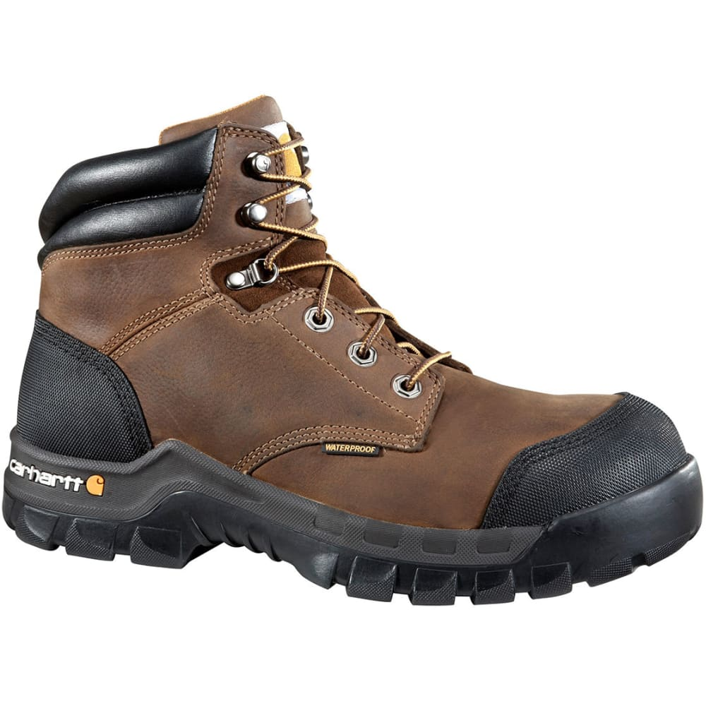 CARHARTT Men's 6-Inch Rugged Flex Waterproof Comp Toe Work Boot - BROWN OIL TAN-MEDIUM