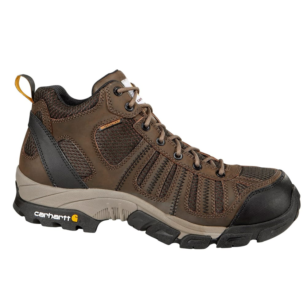 CARHARTT Men's Lightweight Waterproof Work Hikers - DK BROWN LEATHER