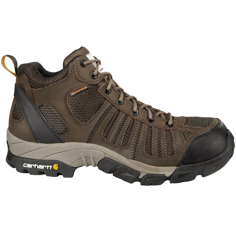 Carhartt Men's Waterproof Mid Hiking Boots, Wide - Brown, 8