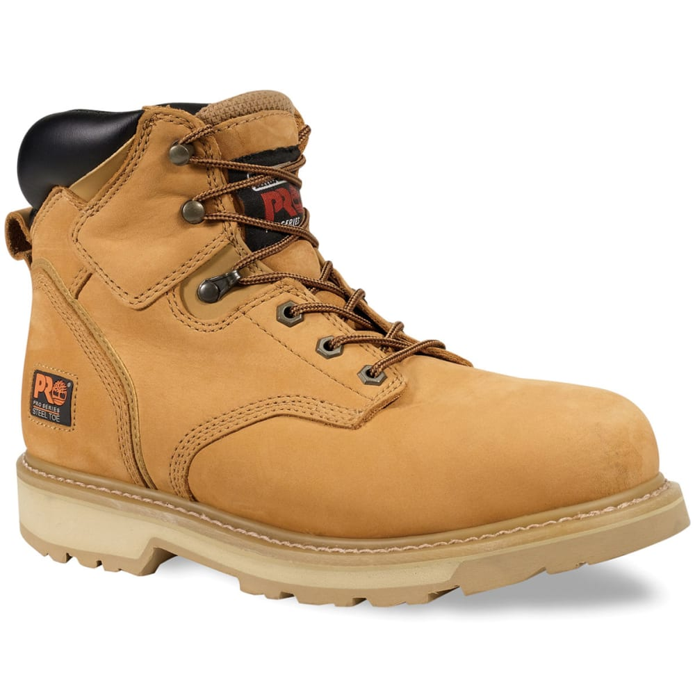 TIMBERLAND PRO Men's Pit Boss Soft Toe Work Boots, Wide - WHEAT