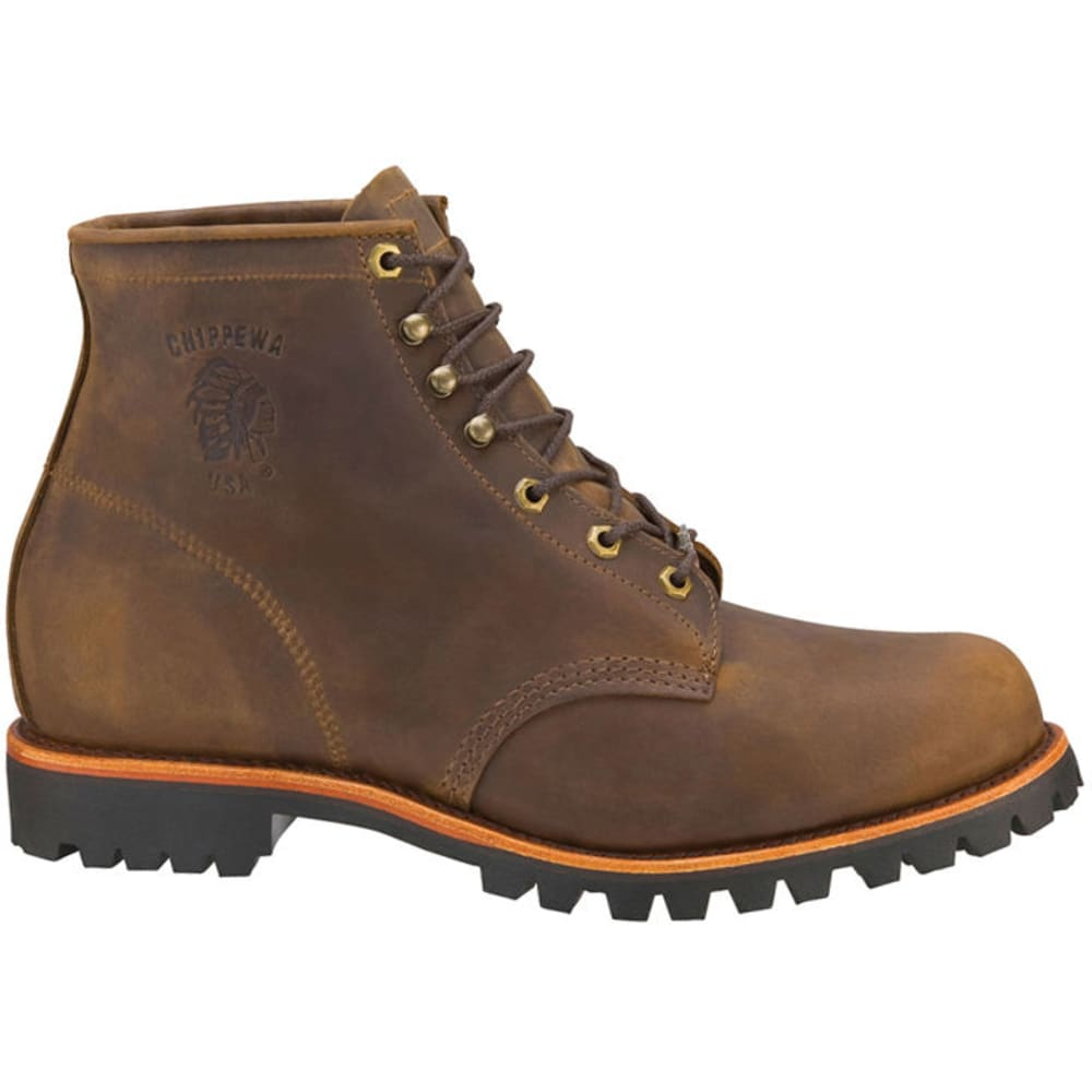 CHIPPEWA Men's 6 in. Apache Boots, Chocolate, Wide Width 9