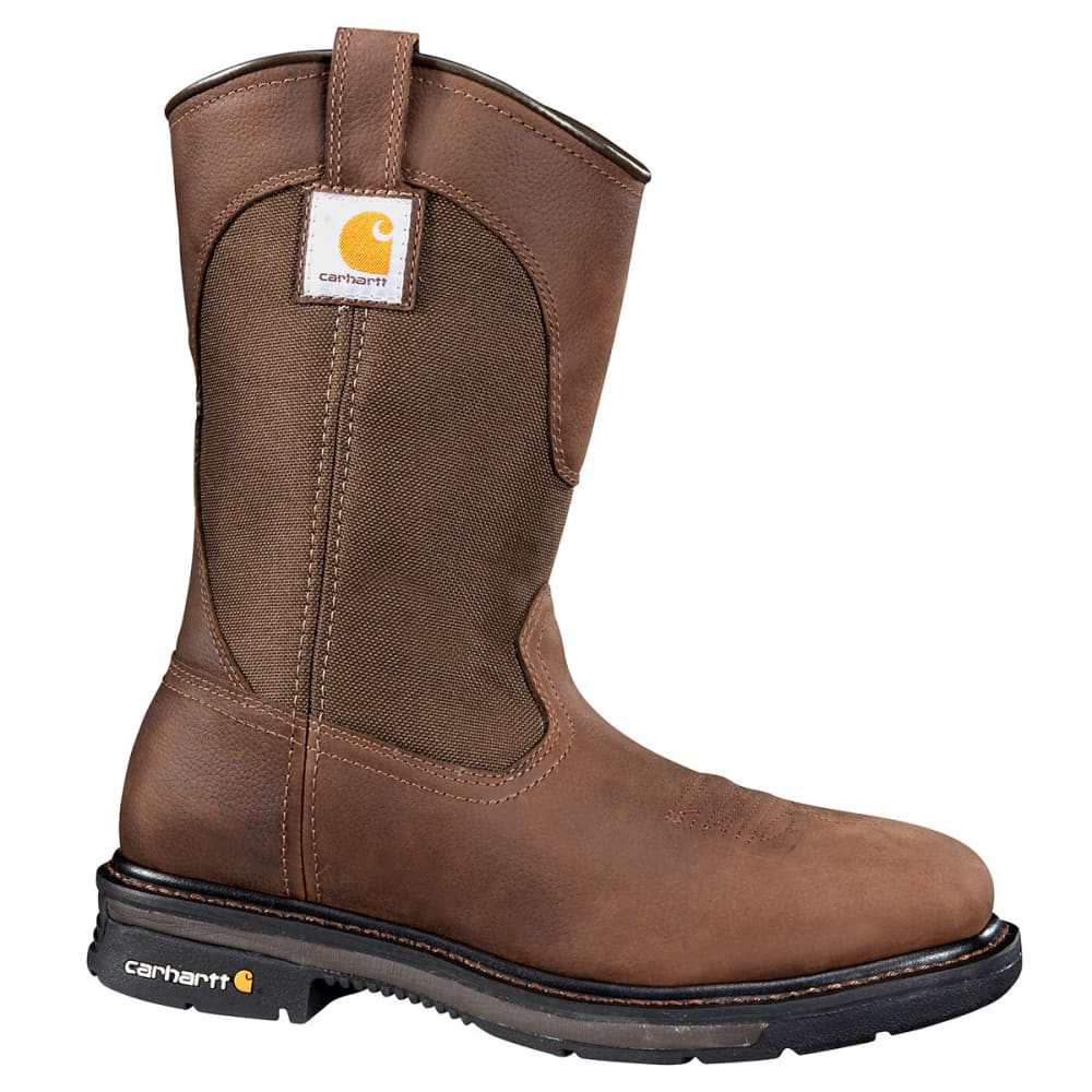CARHARTT Men's 11-Inch Rugged Flex® Square Toe Wellington - DARK BROWN