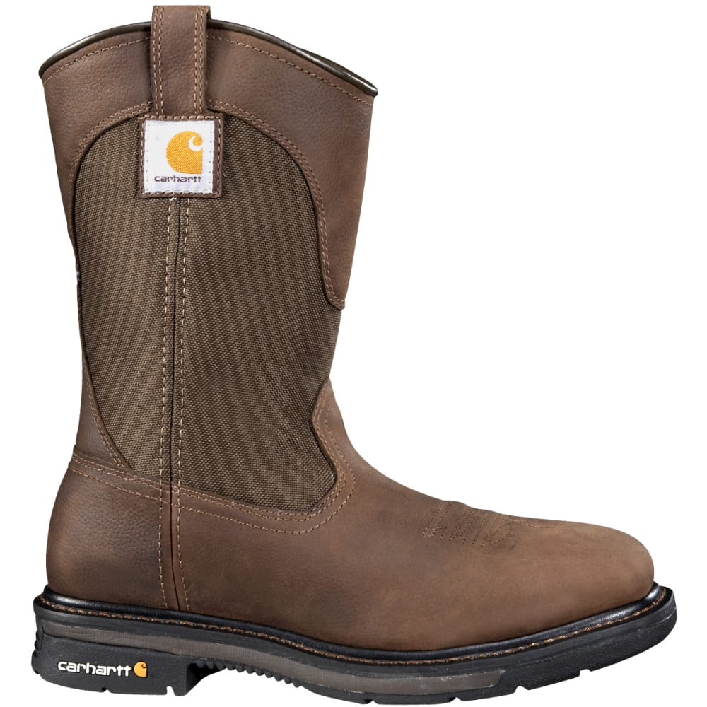 CARHARTT Men's 11-Inch Non-Safety Boots, Wide - DK BISON OIL TANNED