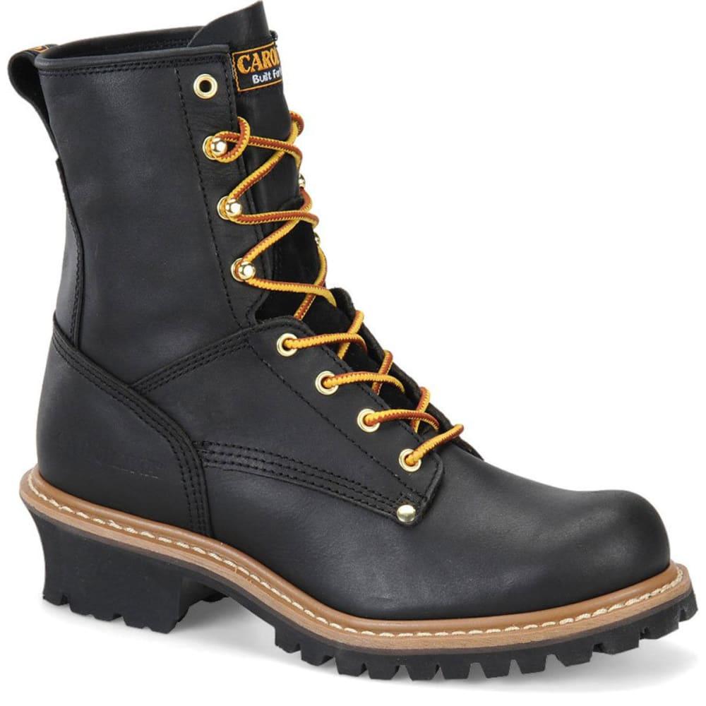 "CAROLINA Men's CA825 8"" Logger Work Boots, Black - BLACK"
