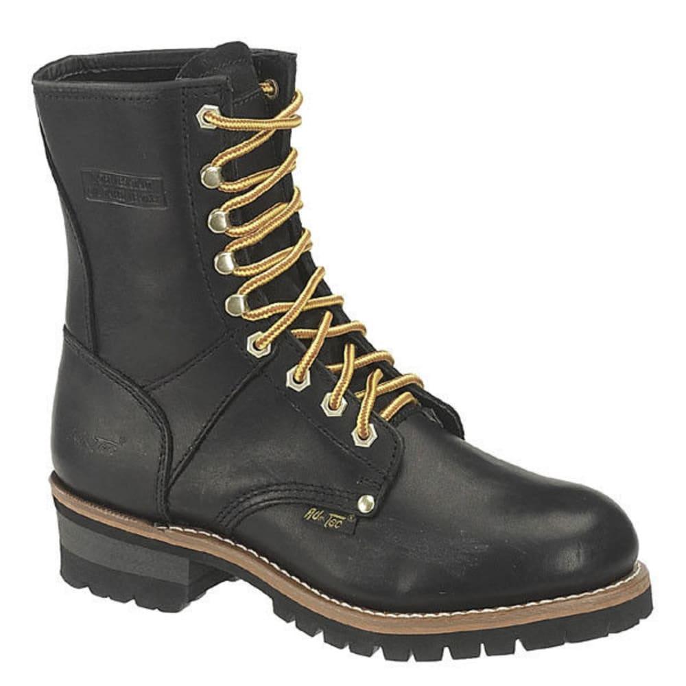 """AD TEC Men's Logger 9"""" Work Boots - BLACK"""