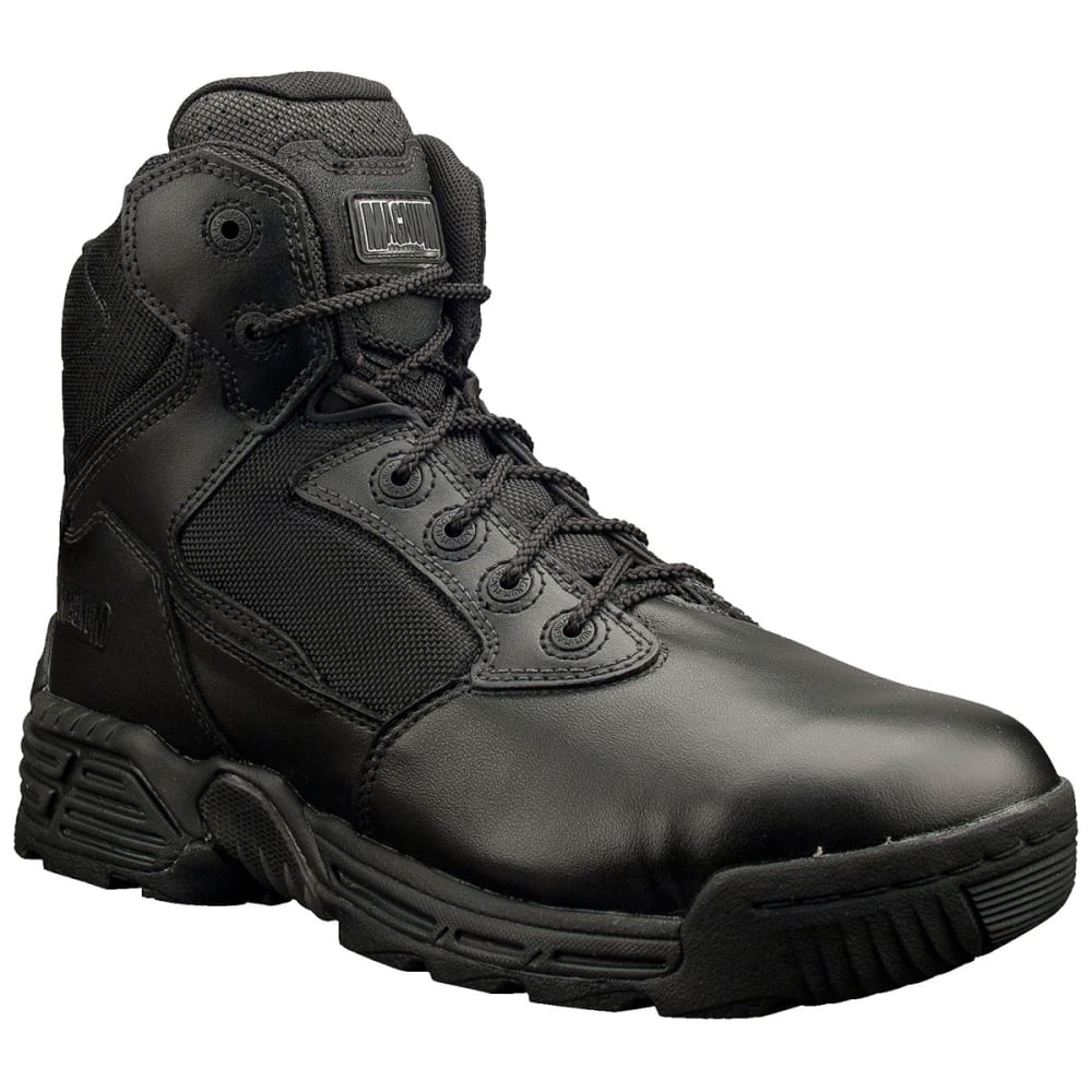 MAGNUM 6 in. Stealth Force Side Zip Work Boots, Black - BLACK