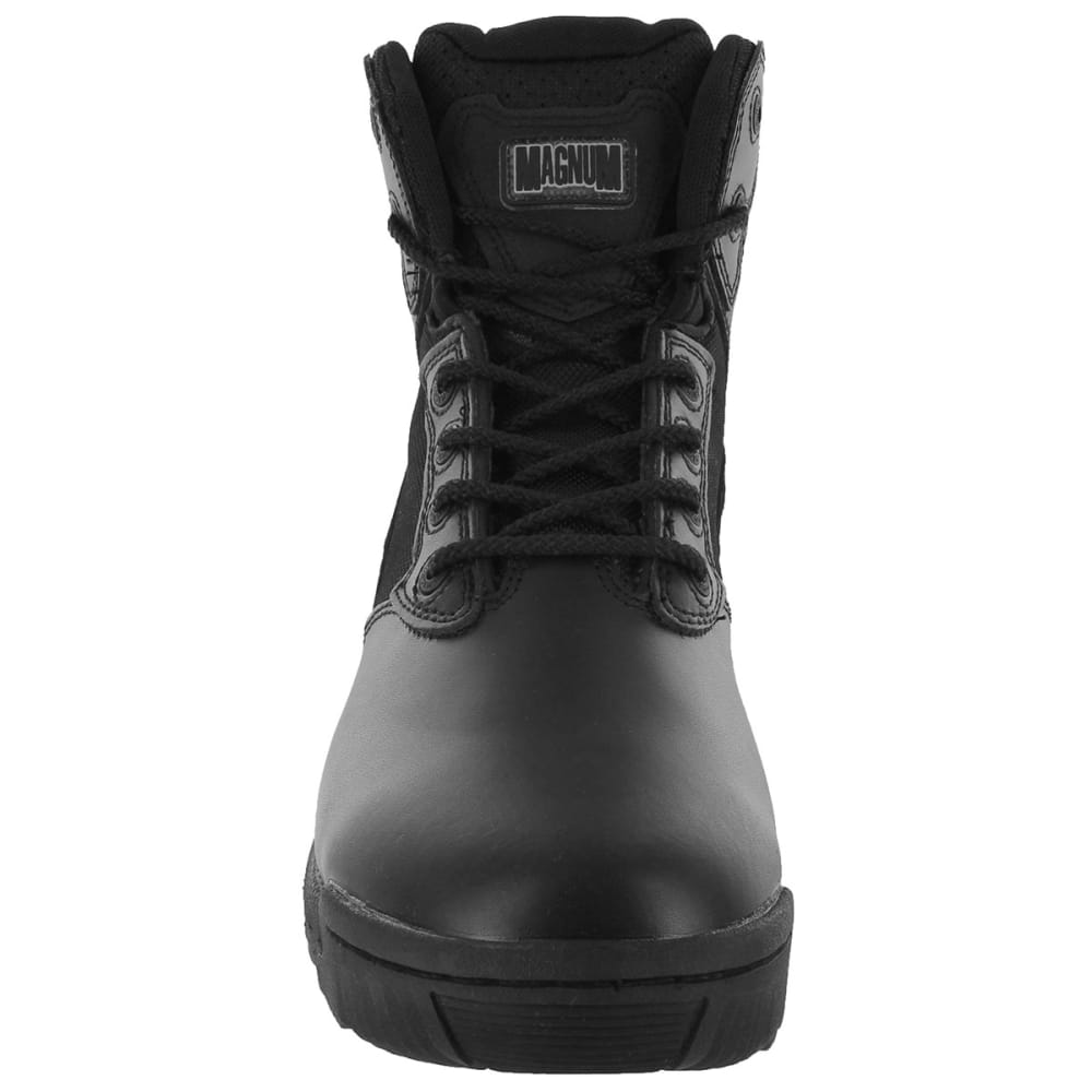 MAGNUM Men's Stealth Force Side Zip 6 in. Work Boots, Wide Width - BLACK