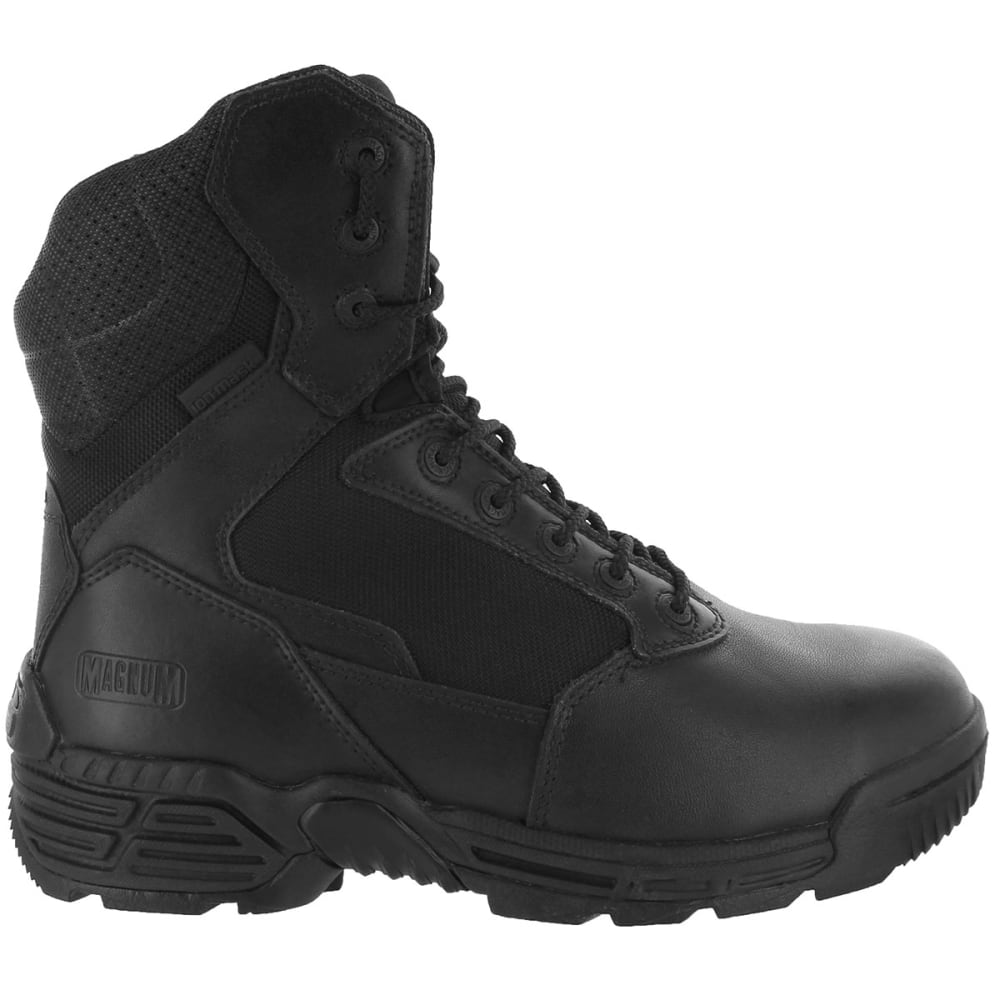 MAGNUM Men's Stealth Force Side Zip 8 in. Work Boots, Wide Width - BLACK