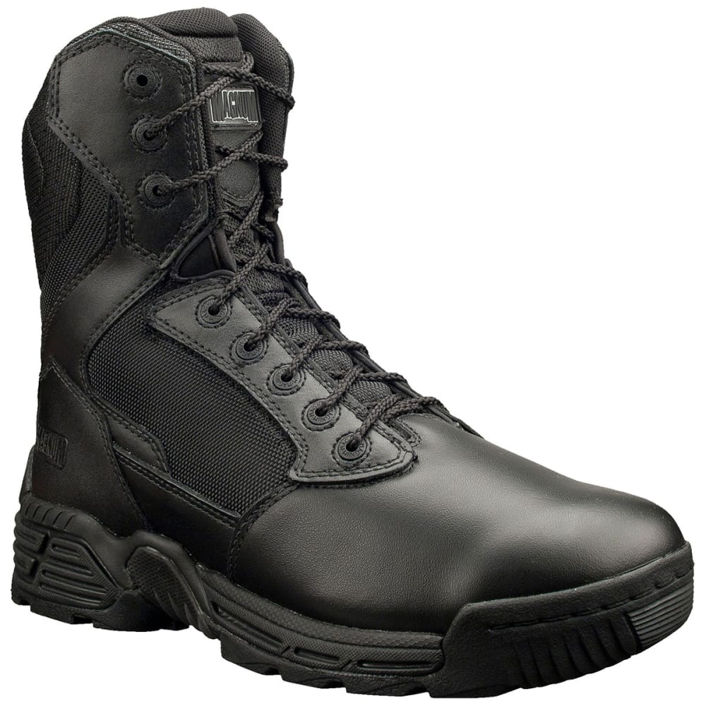 MAGNUM Men's Stealth Force Side Zip 8 in. Work Boots, Wide Width - BLACK