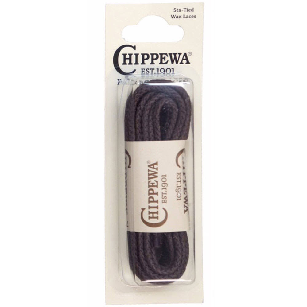 CHIPPEWA 63 in. Sta-Tied Waxed Boot Laces - BRN SOX9563-300 63