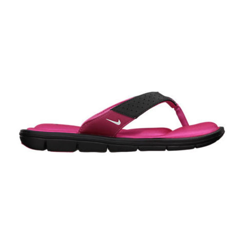 NIKE Women's Comfort Thong Sandals - BLACK/VIVID PINK-012