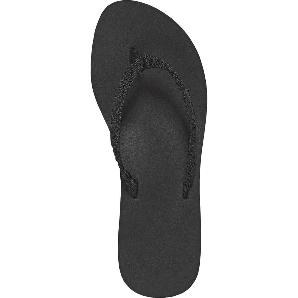 REEF Juniors' Ginger Flip-Flops - BLACK BK2