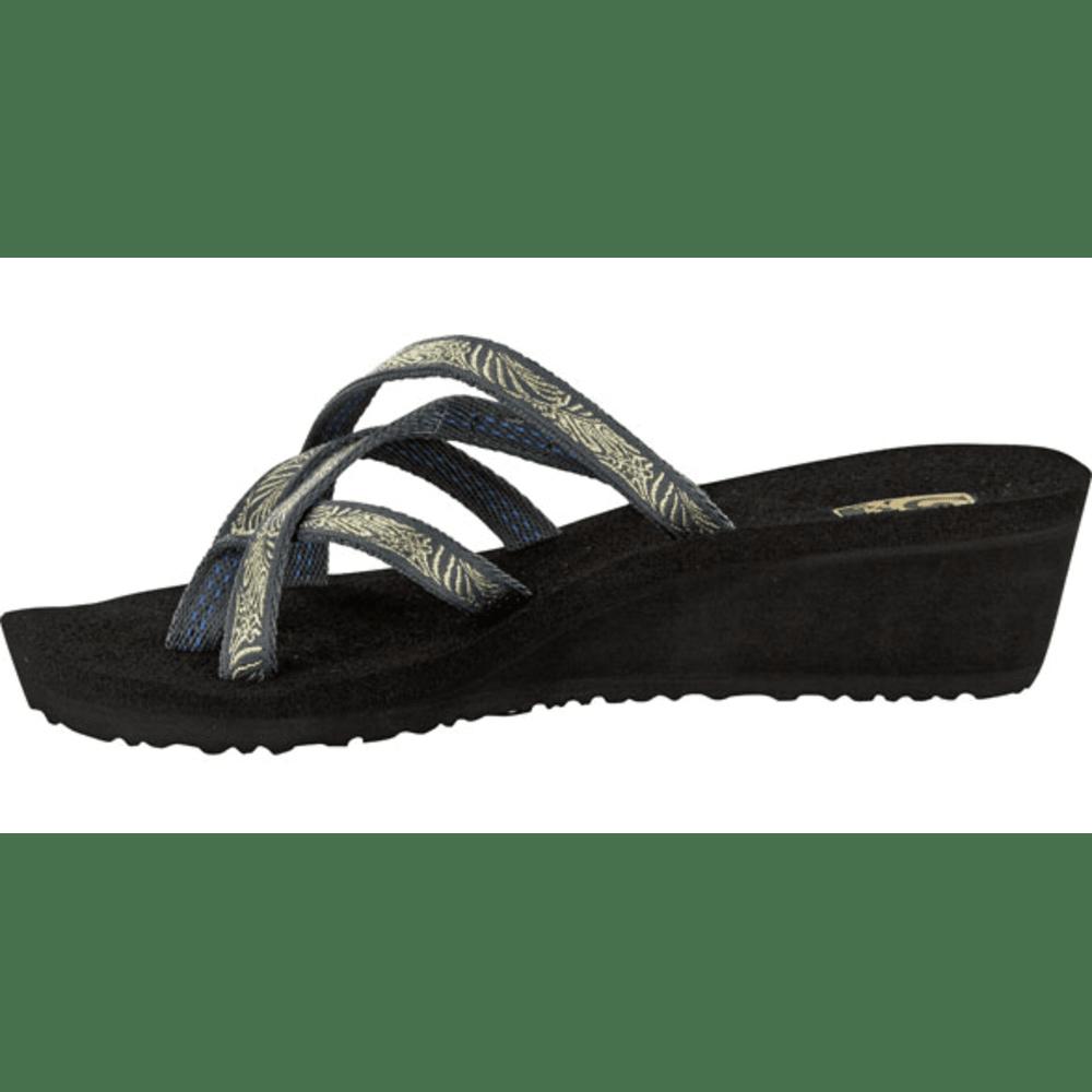 TEVA Women's Mush Mandalyn Wedge Ola Two Sandals - GRAY