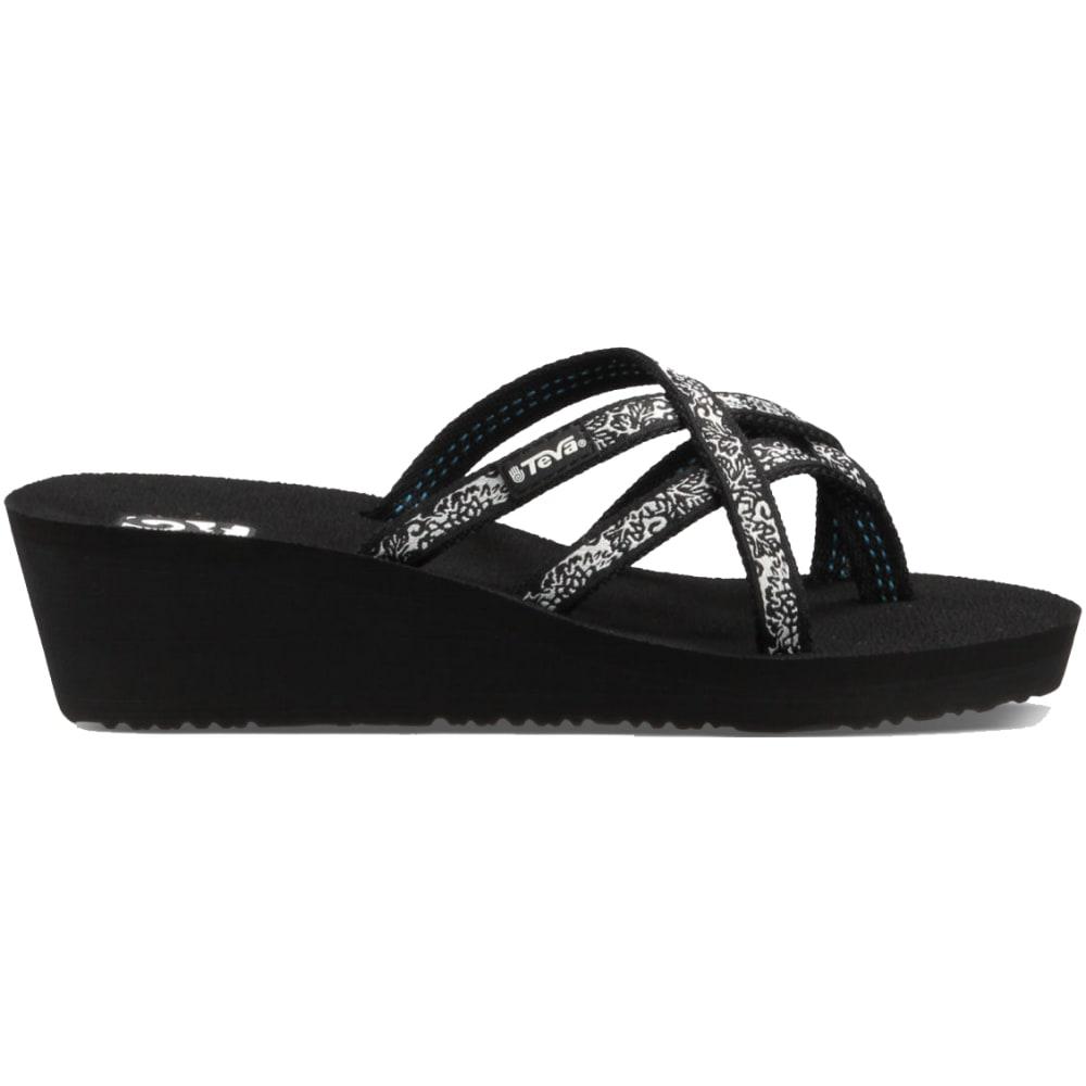 TEVA Women's Mush Mandalyn Wedge Ola Two Sandals - BLACK