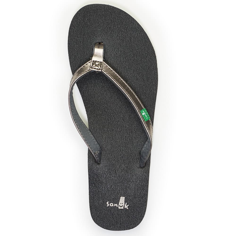 SANUK Juniors™ Yoga Joy Mallard Chevron Sandals - PEWTER