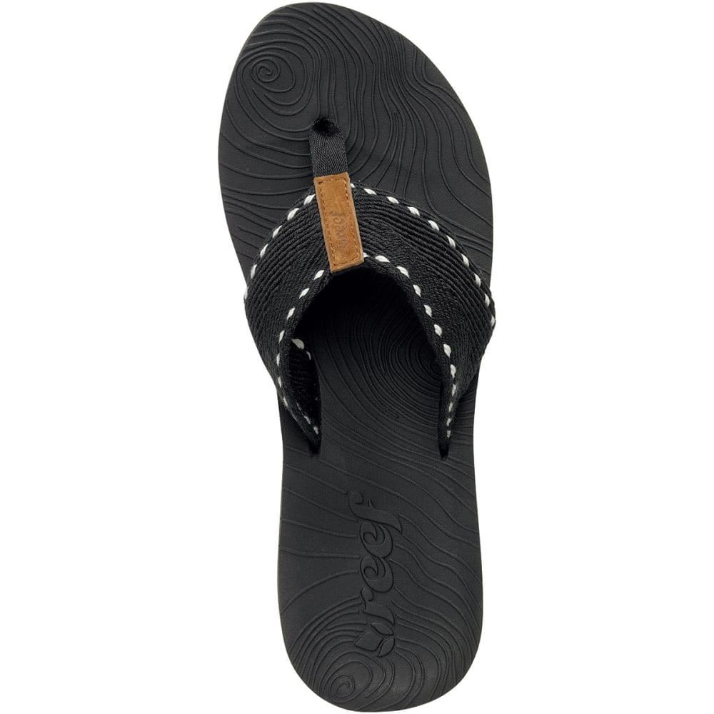 REEF Zen Wonder Thong Sandals - BLACK