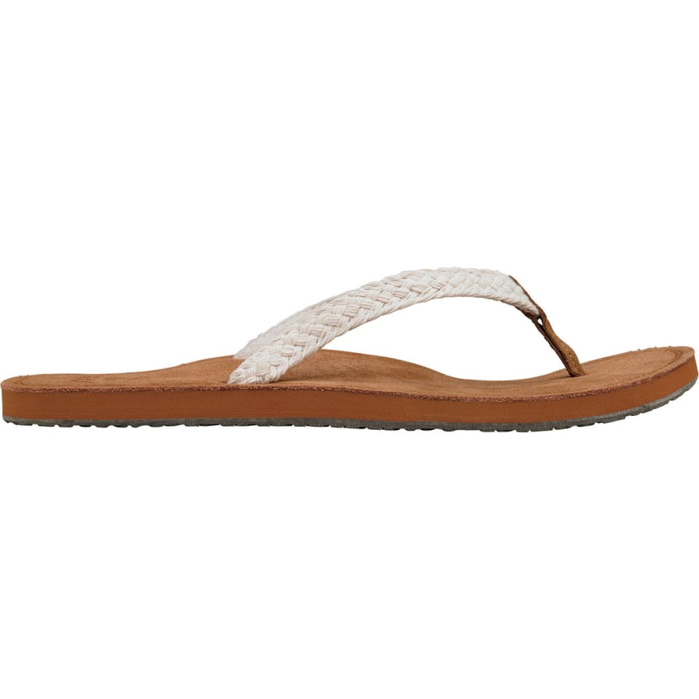 REEF Women's Gypsy Macrame Flip-Flop - CREAM