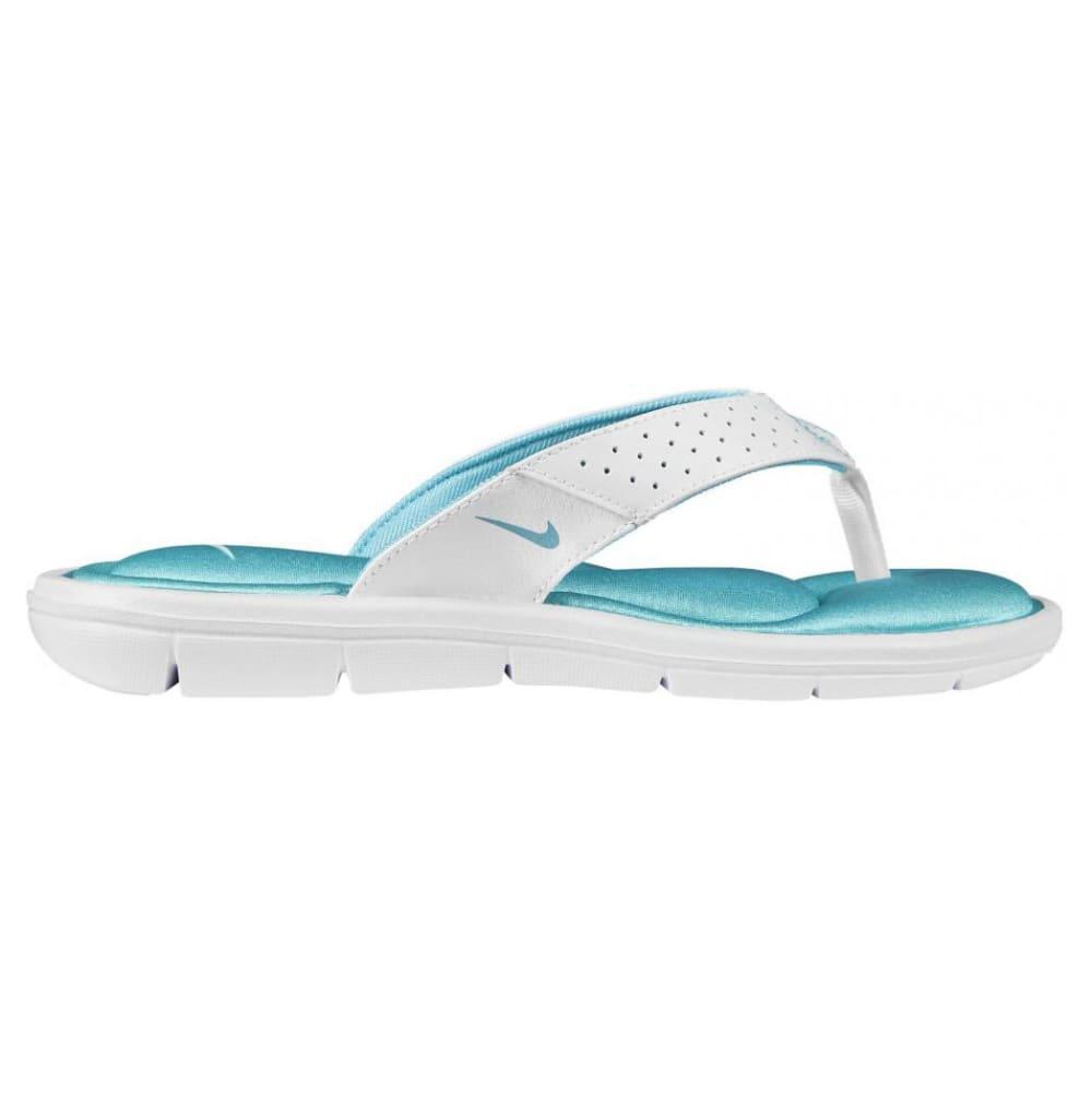 NIKE Women's Comfort Thong Sandals - WHT/AQUA