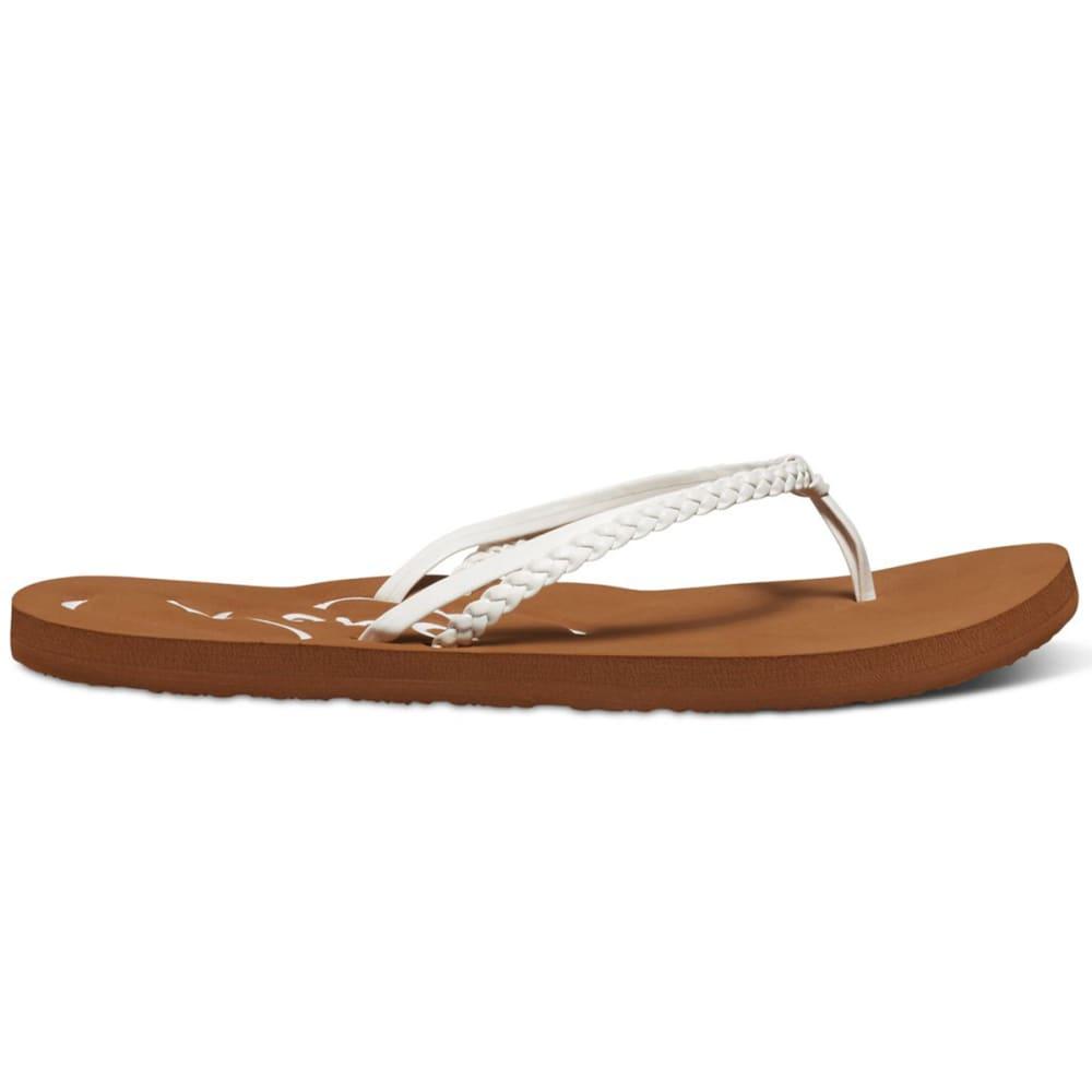 ROXY Women's Cabo Flip Flops - WHITE
