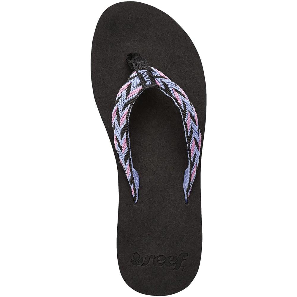 REEF Women's Mid Seas Flip-Flops - BLACK PTRND