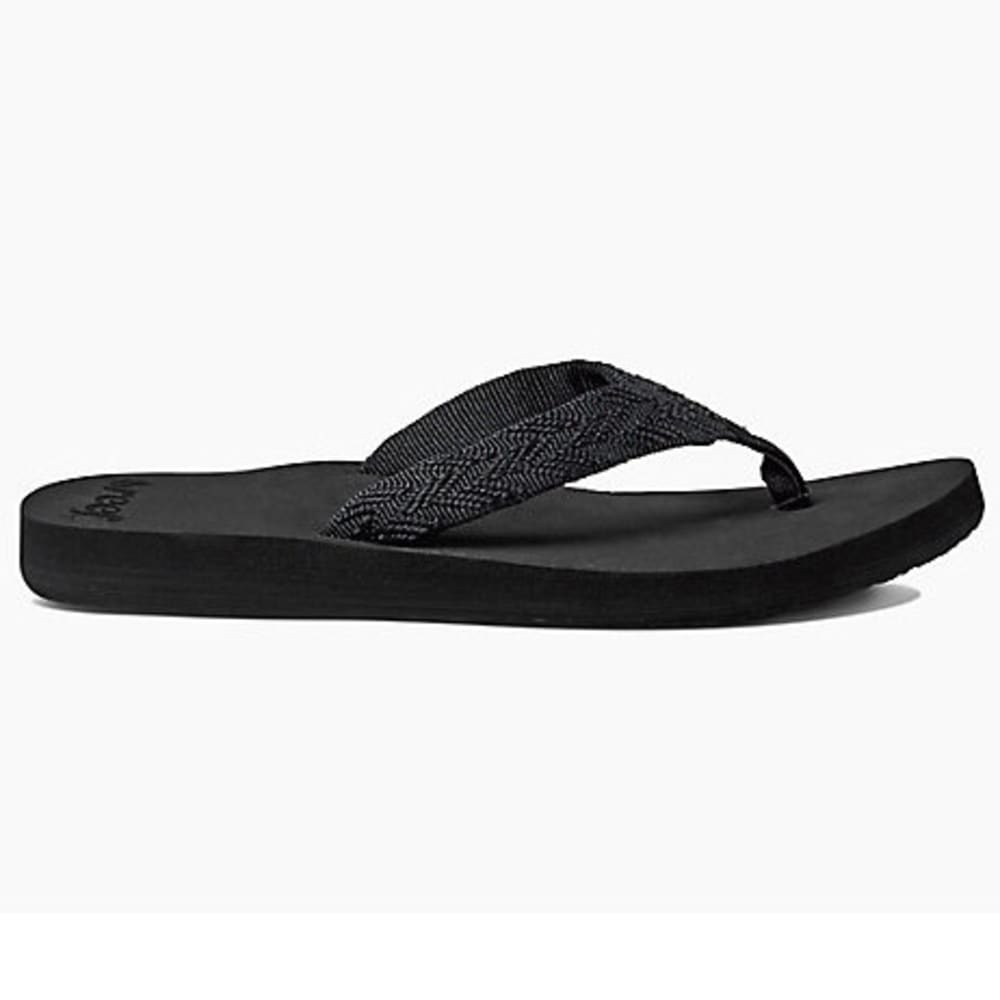 REEF Women's Mid Seas Flip-Flops - BLACK